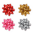 bow set collection realistic shiny vector image vector image