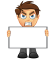 Business Man Blank Sign 2 vector image vector image