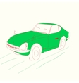 cartoon green car vector image