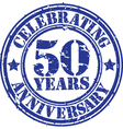 Celebrating 50 years anniversary grunge rubber sta vector image vector image