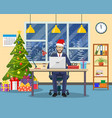 christmas and new year in modern office vector image