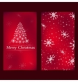Christmas and New Years card with red background vector image vector image