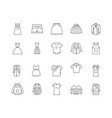 clothing line line icons signs set vector image vector image