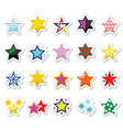 Colorful star icons isolated on white vector image vector image