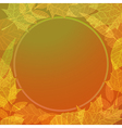 Colourful autumn background vector image vector image