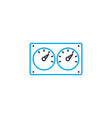 control devices linear icon concept control vector image vector image