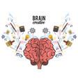 creative brain cartoons vector image