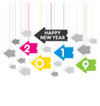 creative happy new year 2019 design vector image vector image