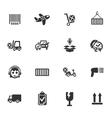delivery service icon set vector image vector image