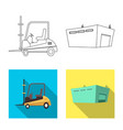 design of goods and cargo logo set of vector image