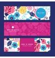 fairytale flowers horizontal banners set vector image