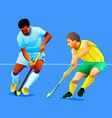 field hockey attack vector image vector image