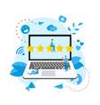 five star customer online rating vector image