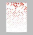 geometric diagonal square mosaic pattern brochure vector image vector image