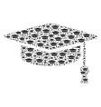 graduation cap icon shape vector image