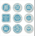 grounge round paper stickers 4 vector image vector image