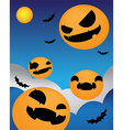 Halloween background face up night vector image vector image