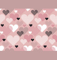 heart shape modern seamless pattern in geometry vector image vector image