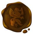 heraldic griffin vector image vector image