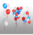 holiday balloons set vector image vector image