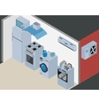 Household Icons appliances Isometric Kitchen vector image vector image