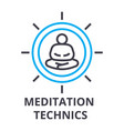 meditation technics thin line icon sign symbol vector image vector image
