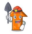 miner arrow mascot cartoon style vector image