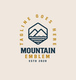 monoline mountain logo template vector image
