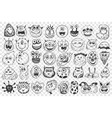monsters hand drawn doodle set vector image vector image
