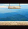 Mountain view summer landscape vector image vector image