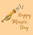 music day card style doodle vector image