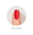 nail polished finger sign nail beauty salon icon vector image