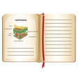 Notebook and leaf anatomy on page vector image vector image
