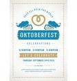 Oktoberfest beer festival poster or flyer template vector image vector image