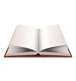 opened modern book isolated vector image vector image