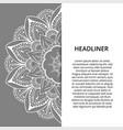 ornamental mandala printable round pattern vector image vector image