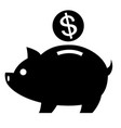 piggy bank sign icon vector image vector image