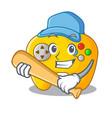 playing baseball modern game shaped controller vector image