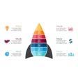Rocket infographic diagram chart graph vector image