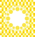 Round Frame with Sliced Lemons vector image vector image