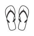 sandals icon design element for logo label sign vector image