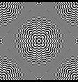 seamless 3d op art pattern vector image vector image