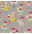 Seanless pattern with roosters vector image
