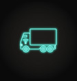 self-driving truck neon icon in line style vector image