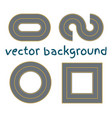 set curved routes vector image vector image