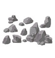 set rocks and stones vector image vector image