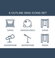 sing icons vector image vector image