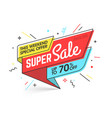 super sale weekend special offer banner template vector image vector image