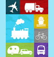 transportation collage vector image vector image