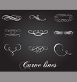Typographic design elements and curve lines